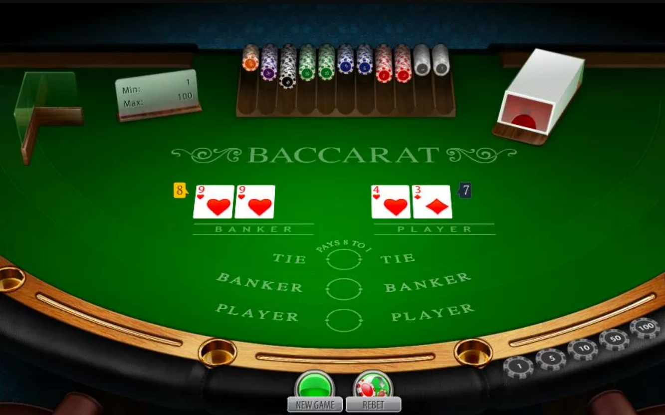 Baccarat card game