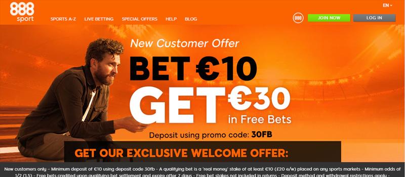 Bonus and Offers in 888Sport