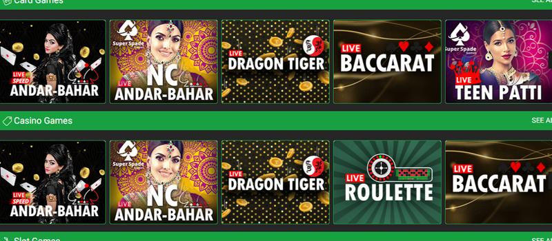 Baazi247 casino games