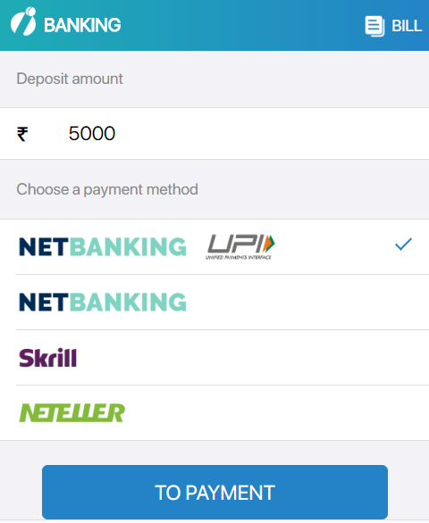 how to deposit in Indibet