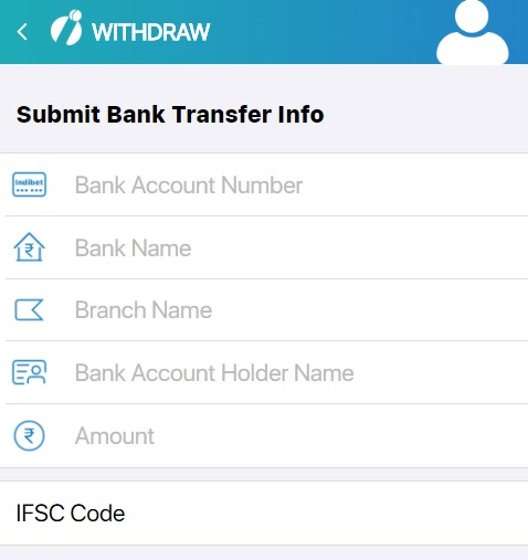 how to withdrawal in Indibet